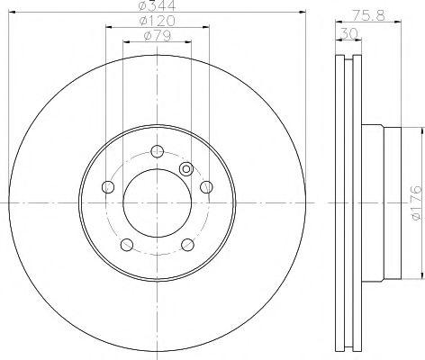 Тормозной диск TEXTAR арт. 92134400