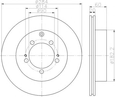 Тормозной диск TEXTAR арт. 92134700