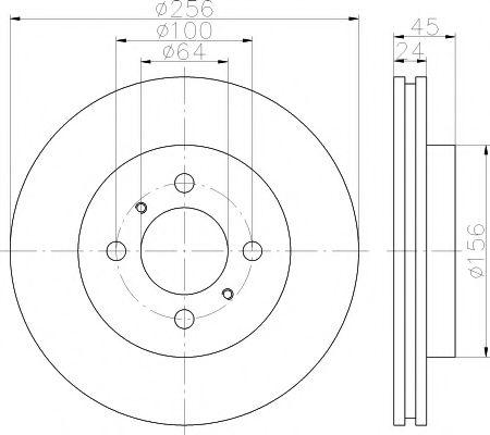 Тормозной диск TEXTAR арт. 92135000