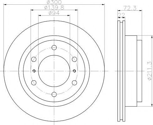 Тормозной диск TEXTAR арт. 92135100