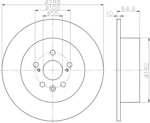 Тормозной диск TEXTAR арт. 92135903