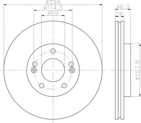 Тормозной диск TEXTAR арт. 92136400