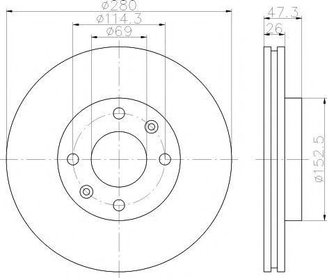 Тормозной диск TEXTAR арт. 92136600