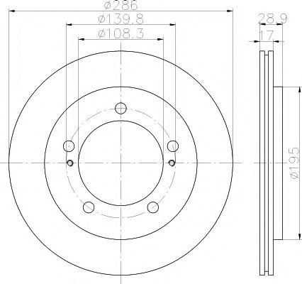 Тормозной диск TEXTAR арт. 92136800