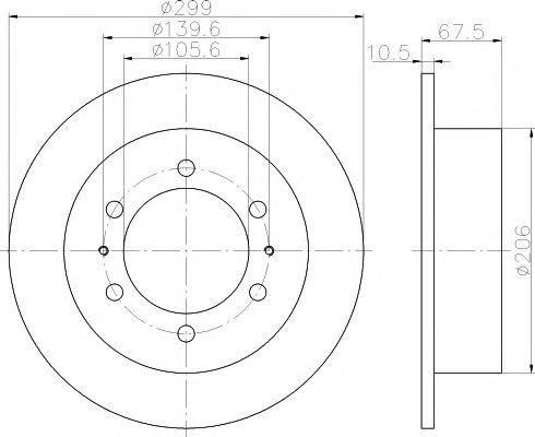 Тормозной диск TEXTAR арт. 92138500
