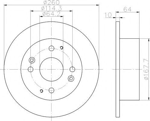 Тормозной диск TEXTAR арт. 92138600