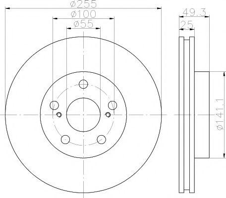 Тормозной диск TEXTAR арт. 92138900
