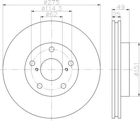 Тормозной диск TEXTAR арт. 92139703