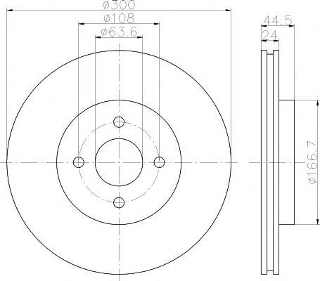 Тормозной диск TEXTAR арт. 92139903