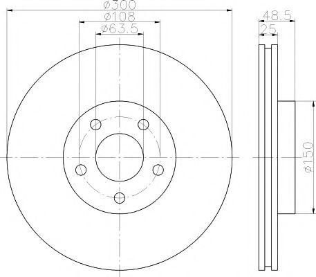 Тормозной диск TEXTAR арт. 92141303