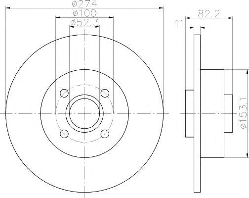 Тормозной диск TEXTAR арт. 92141403