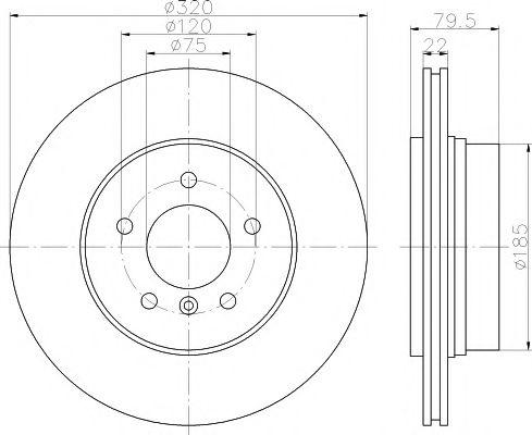 Тормозной диск TEXTAR арт. 92141603