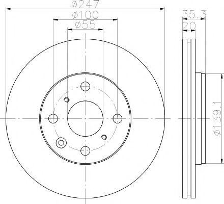 Тормозной диск TEXTAR арт. 92141903