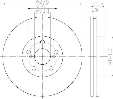 Тормозной диск TEXTAR арт. 92142003