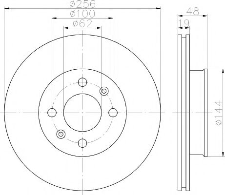 Тормозной диск TEXTAR арт. 92144700