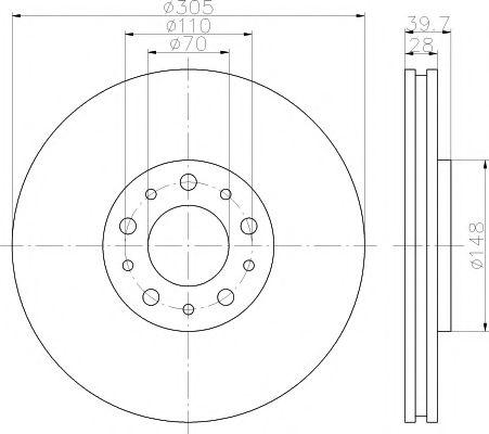 Тормозной диск TEXTAR арт. 92145003