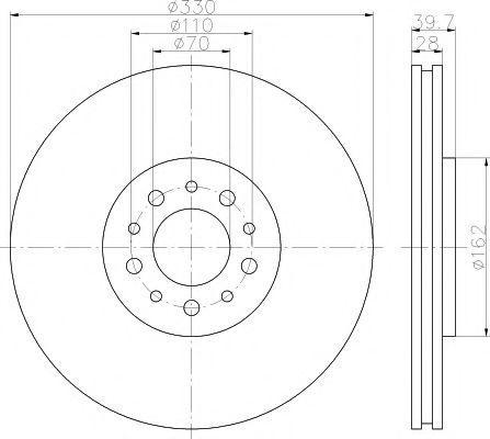 Тормозной диск TEXTAR арт. 92145100