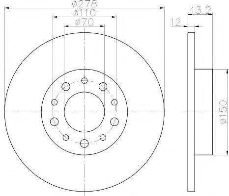 Тормозной диск TEXTAR арт. 92145203