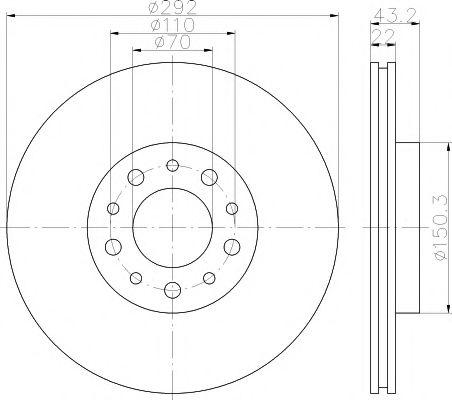 Тормозной диск TEXTAR арт. 92145303