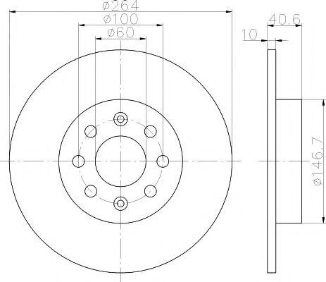 Тормозной диск TEXTAR арт. 92145903