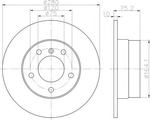 Тормозной диск TEXTAR арт. 92146003