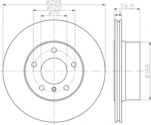 Тормозной диск TEXTAR арт. 92146103