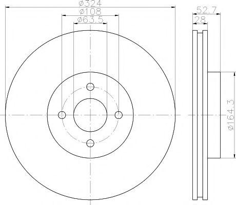 Тормозной диск TEXTAR арт. 92146400
