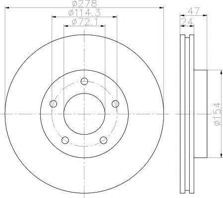 Тормозной диск TEXTAR арт. 92146503