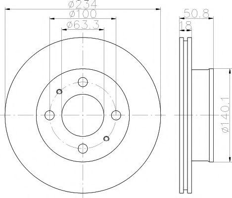 Тормозной диск TEXTAR арт. 92146800