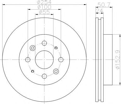 Тормозной диск TEXTAR арт. 92147000