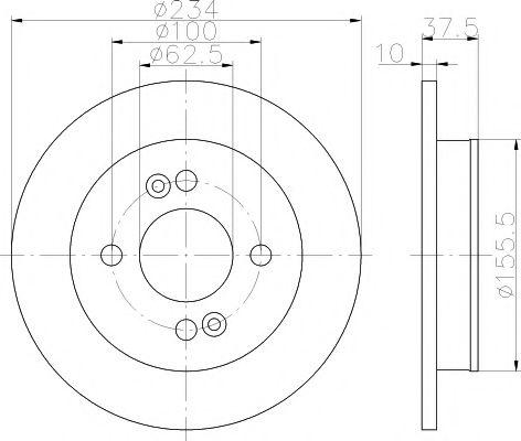 Тормозной диск TEXTAR арт. 92147200