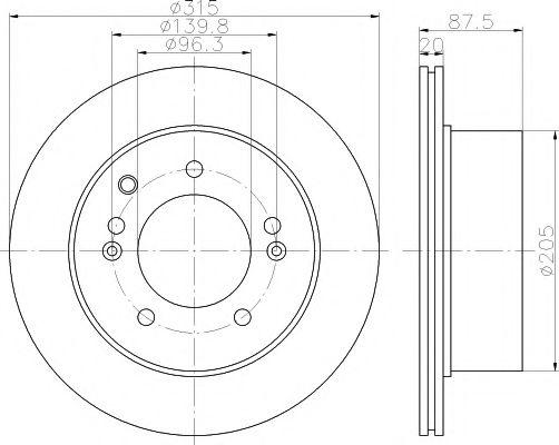 Тормозной диск TEXTAR арт. 92147400