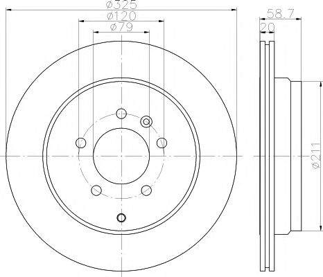 Тормозной диск TEXTAR арт. 92147600