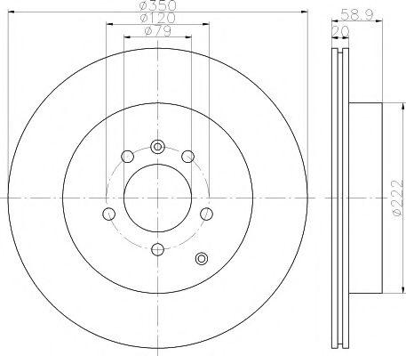 Тормозной диск TEXTAR арт. 92147700