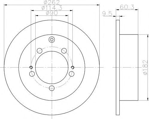 Тормозной диск TEXTAR арт. 92148600