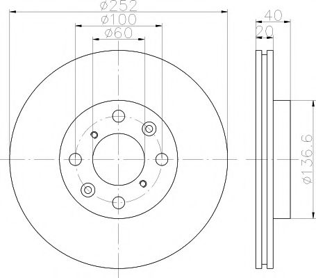 Тормозной диск TEXTAR арт. 92148903