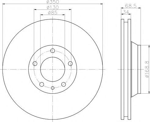 Тормозной диск TEXTAR арт. 92121805