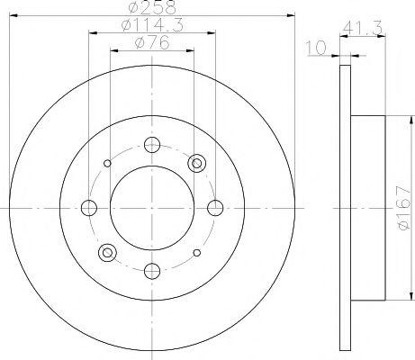 Тормозной диск TEXTAR арт. 92134300
