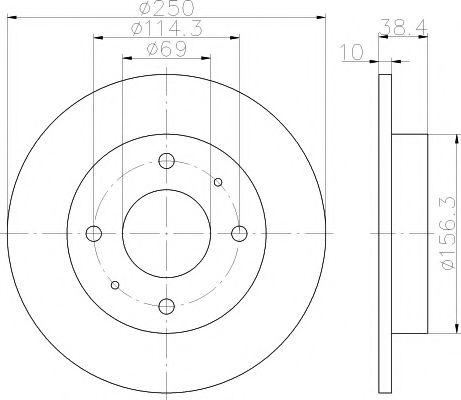 Тормозной диск TEXTAR арт. 92134903