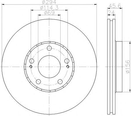 Тормозной диск TEXTAR арт. 92135203