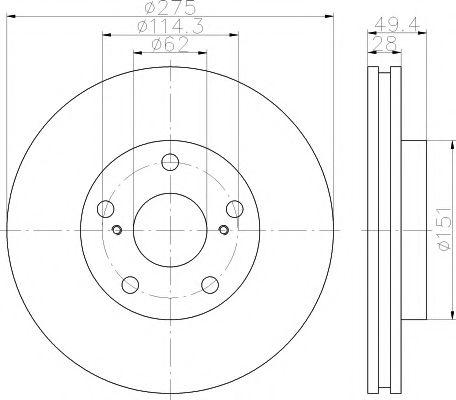 Тормозной диск TEXTAR арт. 92135403