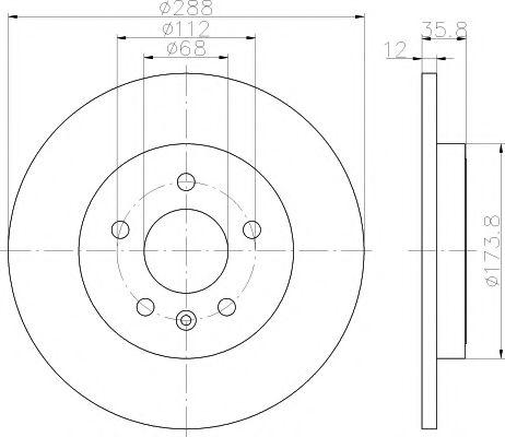 Тормозной диск TEXTAR арт. 92137003