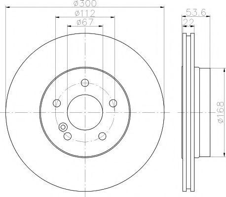 Тормозной диск TEXTAR арт. 92137203