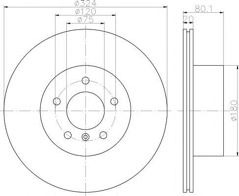 Тормозной диск TEXTAR арт. 92146303