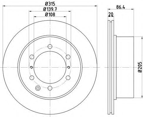 Тормозной диск TEXTAR арт. 92146700