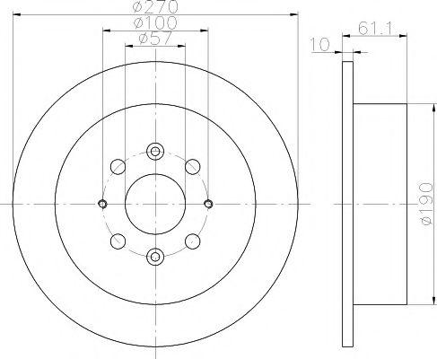Тормозной диск TEXTAR арт. 92147500