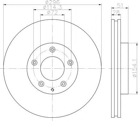 Тормозной диск TEXTAR арт. 92148100