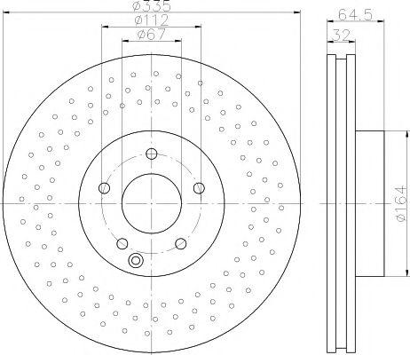 Тормозной диск TEXTAR арт. 92171903