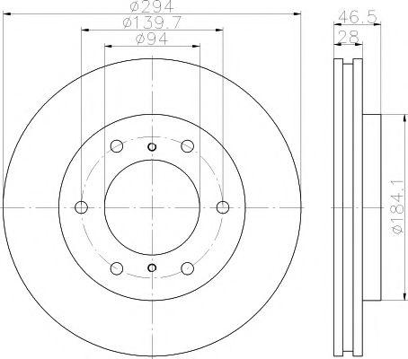 Тормозной диск TEXTAR арт. 92180203