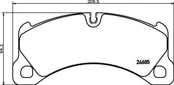 Комплект тормозных колодок, дисковый тормоз TEXTAR арт. 2468501